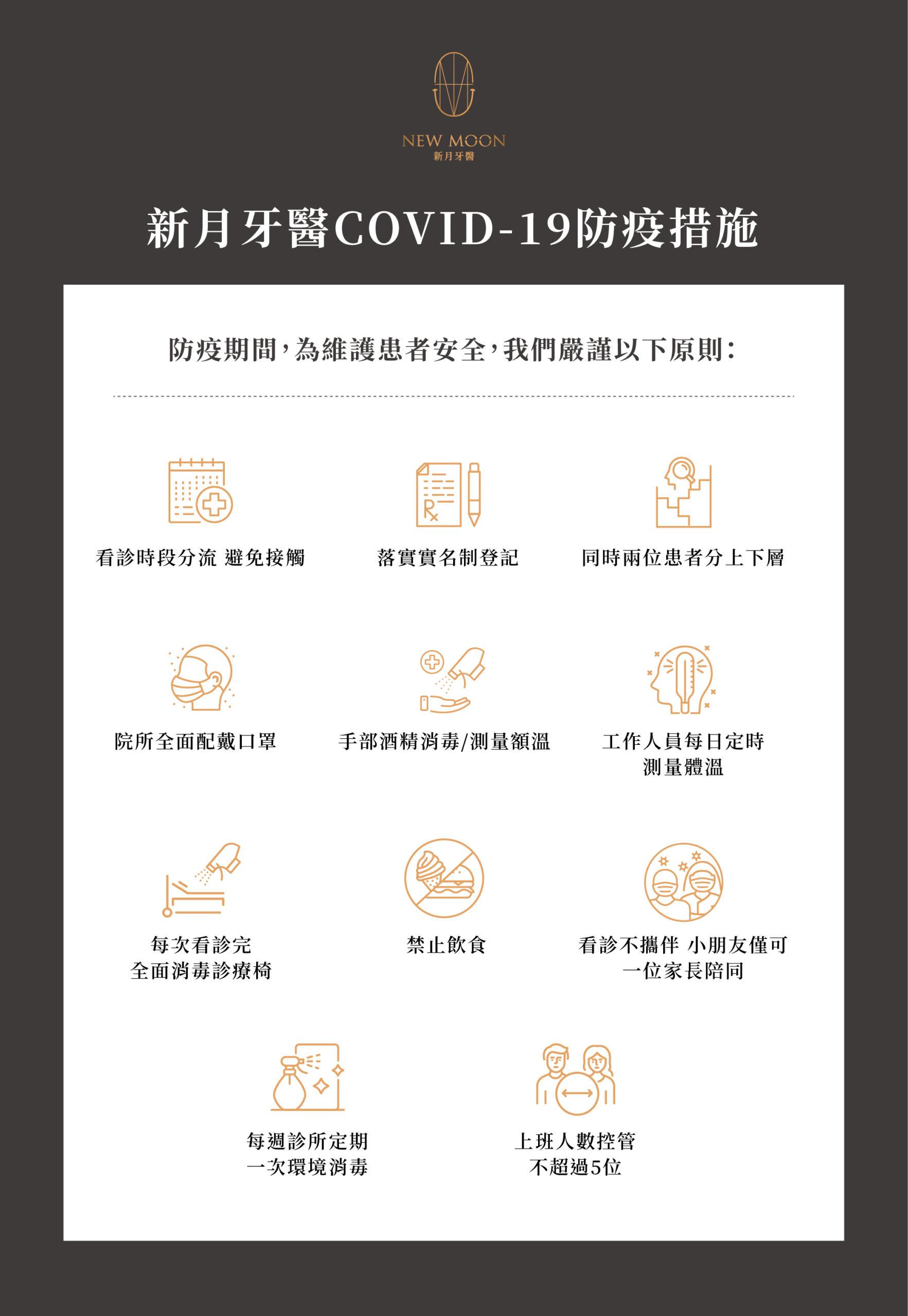 新冠肺炎COVID-19防疫措施公告